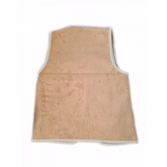 Mellény gyapjúból és irhából barna színben XL-es méret