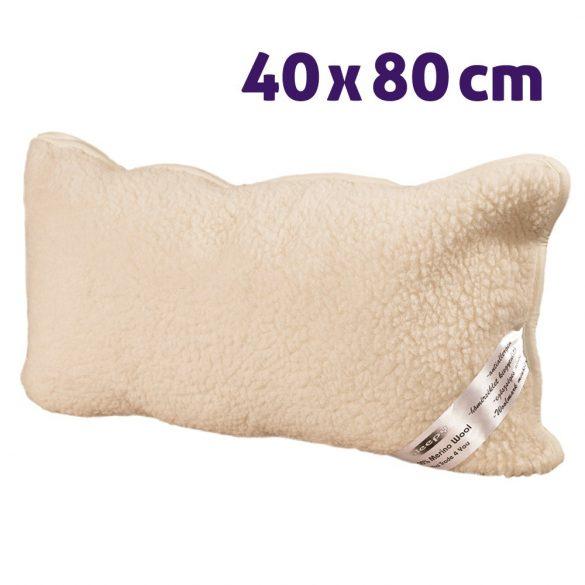 Sleepy - Natur Gyapjú Párna Gerinckímélő 480gr/m2-40X80Cm