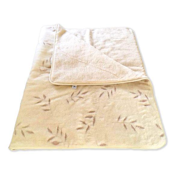 Ortho-Sleepy Olivo mintás 100% bárány gyapjú takaró