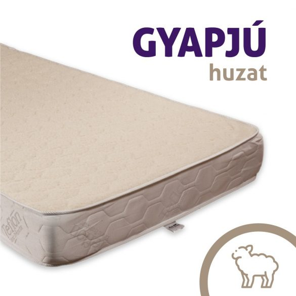 Sleepy-Memory High Luxus Plus Gyapjú/Teflon Memory Foam Ortopéd Vákuum Matrac / 100x200cm