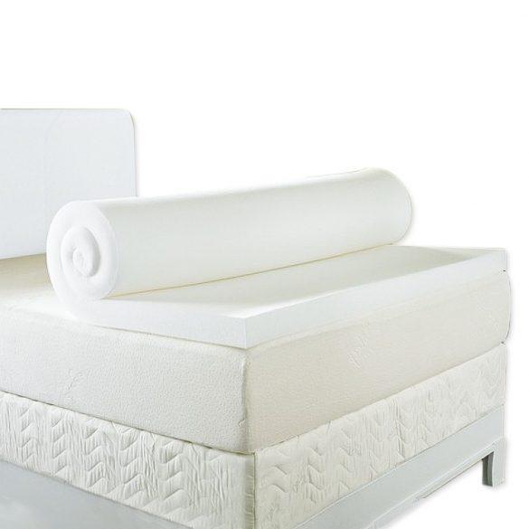 Ortho-Sleepy Memory Topper fedőmatrac natúr fehér huzattal
