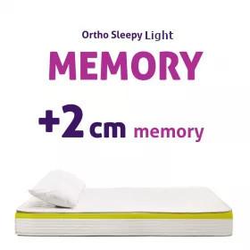 Light Memory matrac - 2 cm memory réteggel