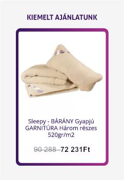 Ortho-Sleepy három részes bárány gyapjú garnitúra 520 g/m²